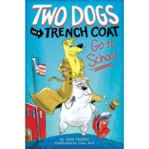 two dogs trench coat